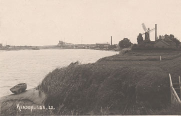 River Trent with windmill and bridge