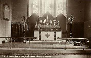 The altar at St. Oswalds