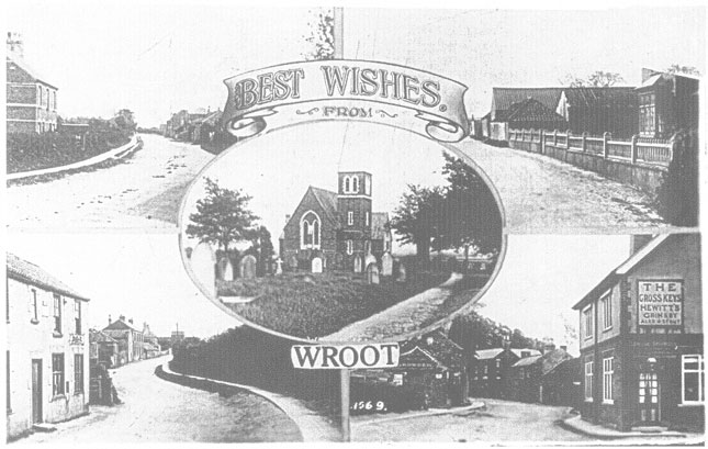 Old Wroot Postcard